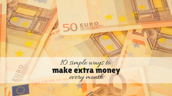 10 Simple ways to make extra money every month – offline and online