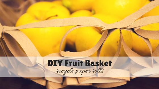 DIY fruit basket – Recycle toilet paper rolls