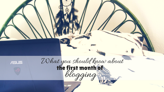 What you should know about the first month of blogging