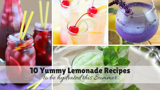 10 Yummy Lemonade Recipes to be hydrated this Summer